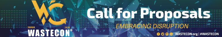 WASTECON 2020 Call for Proposals banner