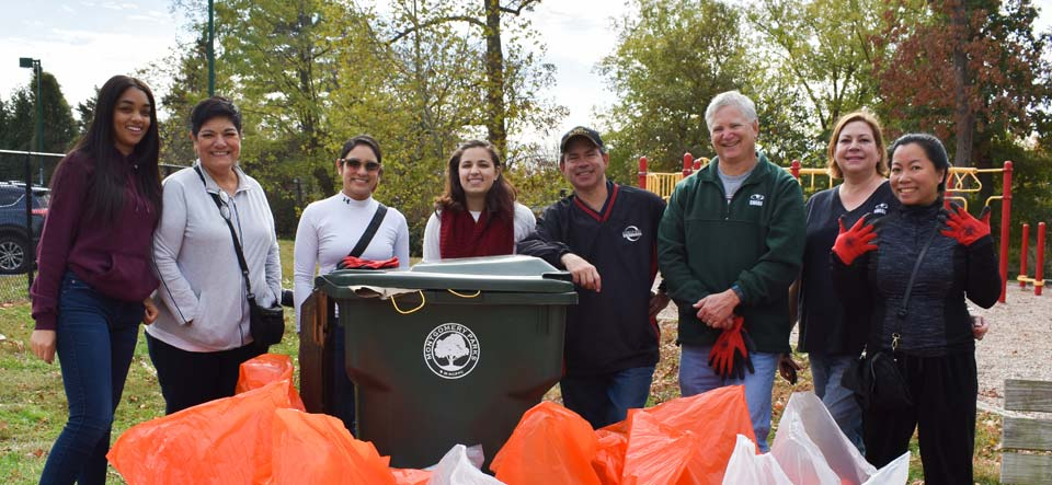SWANA HQ staff volunteers with Montgomery County Parks cleanup efforts